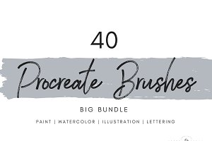 40 Procreate Brushes