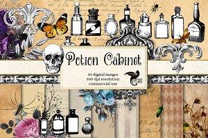 Potion Cabinet Vintage Graphcis