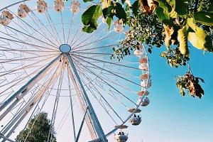 Blue sky wheel