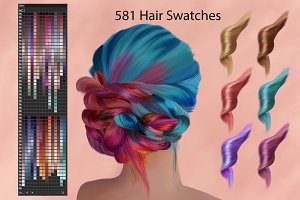 Hair Ai Swatches for DigitalPainting