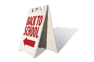 Back to School Tent Sign