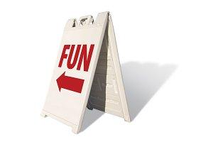 Fun Tent Sign