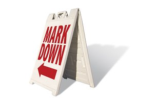 Mark Down Tent Sign