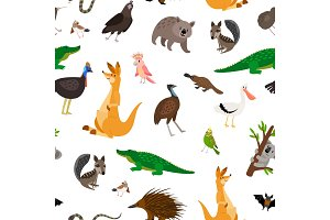 Australia animals pattern