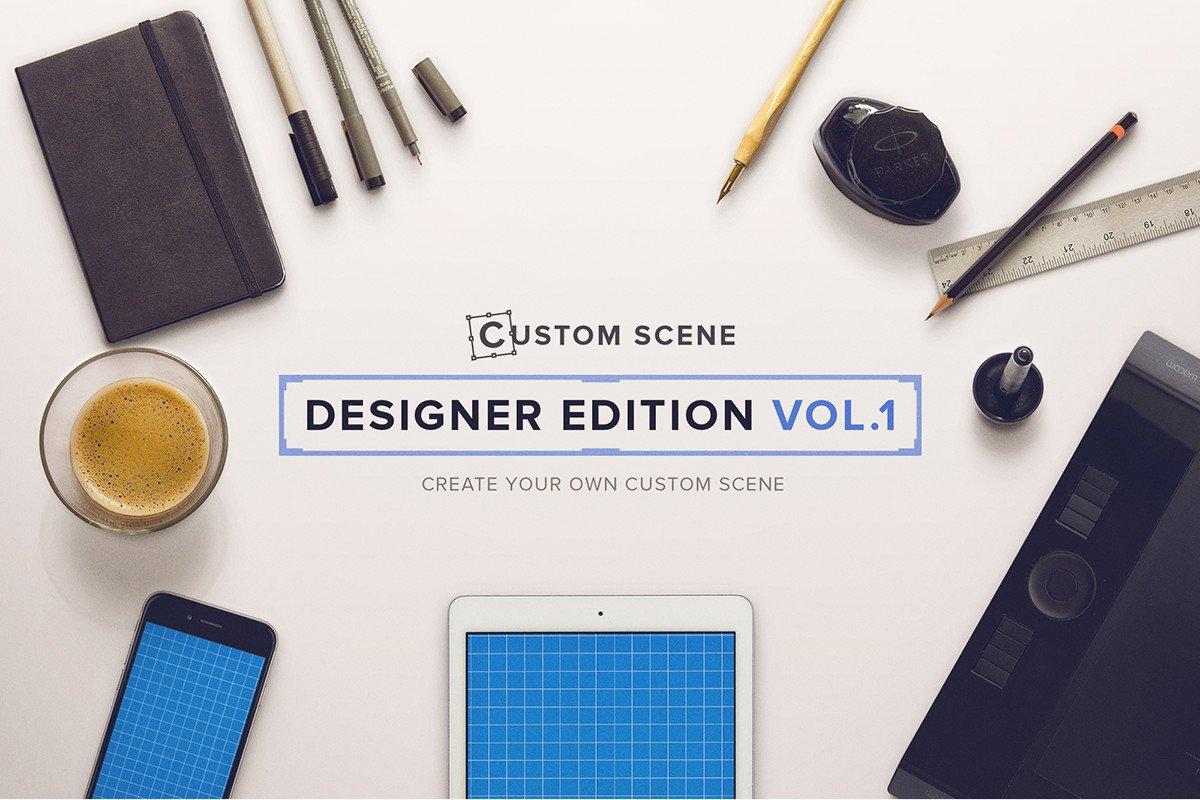 Designer Ed Vol 1 Custom Scene Scene Creator Mockups