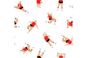 Sport woman pattern