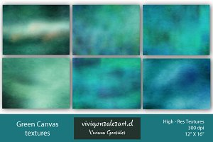 Green Canvas Textures