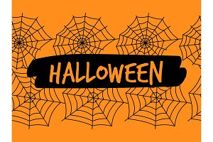 Halloween spiderweb seamless pattern