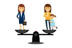 Business woman vs family woman