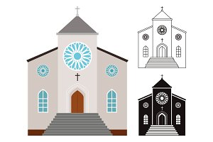 Churches buildings set