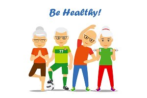 Senior age couples healthy concept