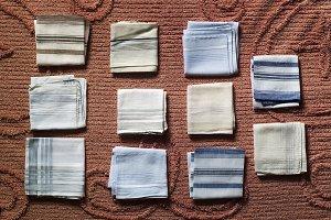 Benigno handkerchiefs on bedspread