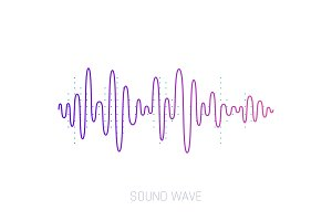 Vector Sound Wave. Colorful
