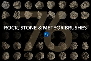 Rock,Stone and Meteor Brushes for PS