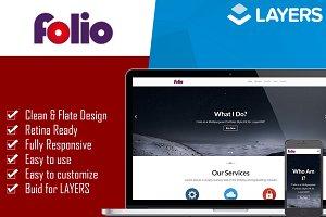 Folio - Onepage LayersWP StyleKit