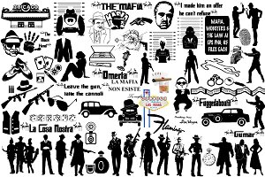 Mafia,Mobsters & the Law AI EPS PNG