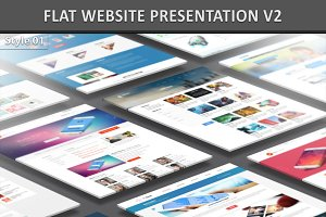 Flat Website Presentation V2