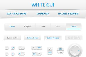 White Web User Interface Kit