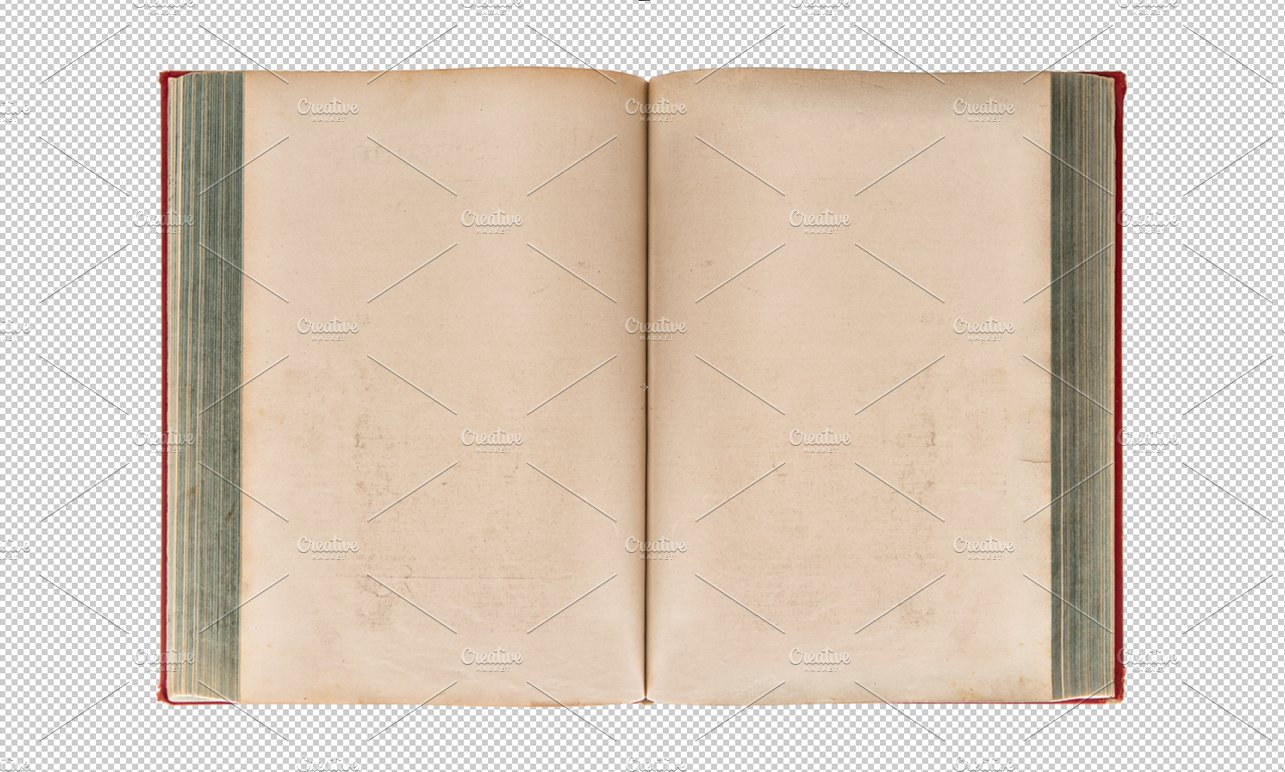 PNG Open Old Book Transparent Back Objects Creative