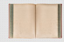 PNG Open old book. Transparent Back