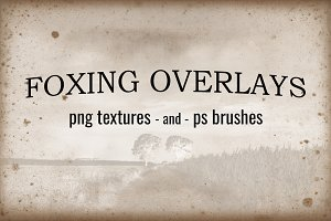 Foxing Textures and Brushes