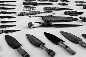 Knives in Black and White