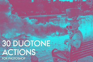 30 Duotone Actions for Photoshop