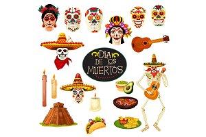 Dia de los Muertos symbols