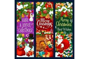 Christmas garland and gift