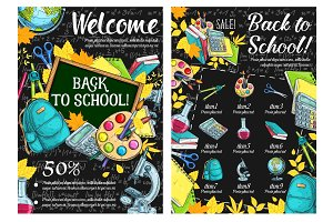 Back to School lesson sketch posters