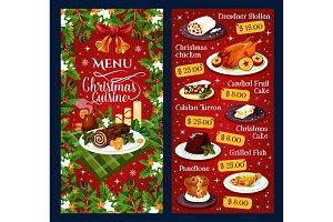 Christmas dinner cuisine vector