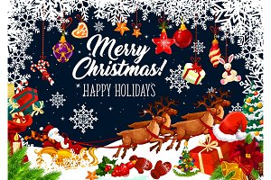 Christmas Santa sleigh, Xmas gift