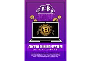 Crypto mining system digital money
