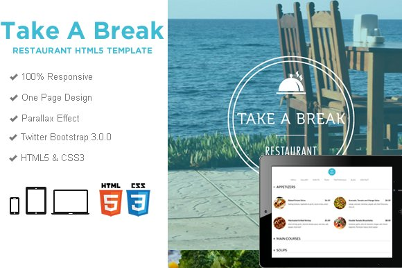 Take a Break – Restaurant Food HTML5