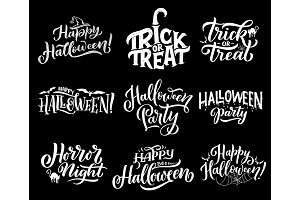 Happy Halloween holiday lettering