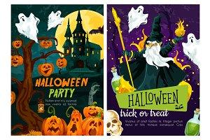 Halloween night celebration poster