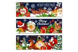 Merry Christmas gifts banners