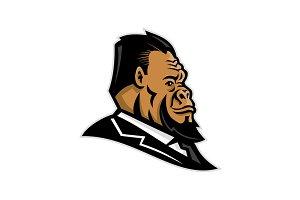 Well-Groomed Gorilla Mascot