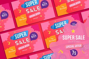 Vector Banner for Super Sale 60% off