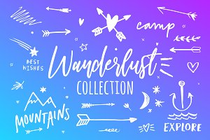 Wanderlust clip art collection