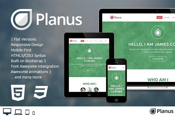Planus one page bootstrap theme bootstrap themes creative market maxwellsz