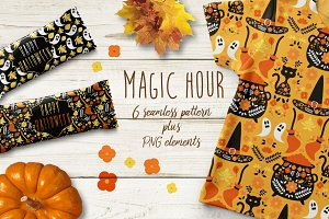 Magic Hour Halloween Pattern