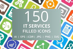 150 IT Services Filled Icons