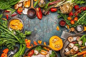Autumn seasonal food ingredients