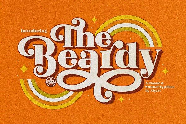 Display Fonts: Aiyari - The Beardy