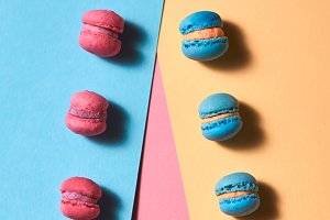 Pattern from different macaroons on