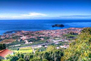 Aerial view to Islet of Vila Franca