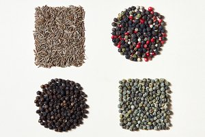 Spices pattern of different kinds of