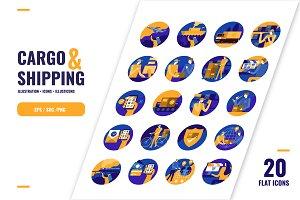 Cargo & Shipping Icons