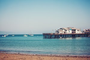 Stearns Wharf pier in Santa Barbara
